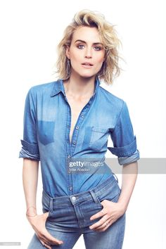 Taylor Schilling Get premium, high resolution news photos at Getty Images Taylor Schilling, Denim Shirt, Jeans, Orange Is The New Black, Weekend Wear, American Actress, Chambray, Celebrities, Casual