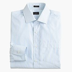 Crosby shirt in end-on-end oasis blue stripe