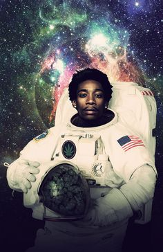 Wiz Khalifa Astronaut Poster A Smoking Space Print door Redfunkovich