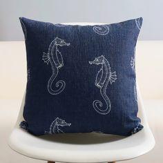 Ikea linge taie d'oreiller bleu marine Chervon ancrage étoiles de mer méditerranéenne coussin décoratifs pour la maison 45 x 45 cm dans Coussin de Maison & Jardin sur AliExpress.com | Alibaba Group