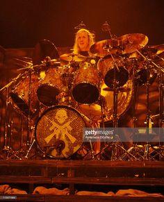 Nicko McBrain of Iron Maiden during Iron Maiden Concert in Toronto - October 16, 2006 at Air Canada Center in Toronto, Ontario, Canada.