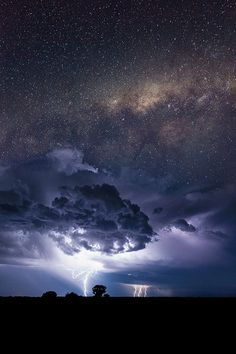 The Milky Way silently presiding above turmoil below ...
