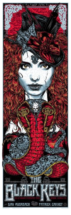INSIDE THE ROCK POSTER FRAME BLOG: Tonight's The Black Keys Poster from Brisbane by Rhys Cooper