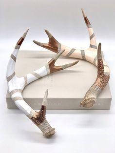 Deer Skull Decor, Cow Skull Art, Antler Wall Decor, Antler Art, Deer Horns Decor, Decorating With Deer Antlers, Antler Centerpiece, Centerpieces, Painted Deer Antlers