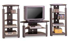 CONTEMPORARY Black / Silver Entertainment Center By Coaster Furniture
