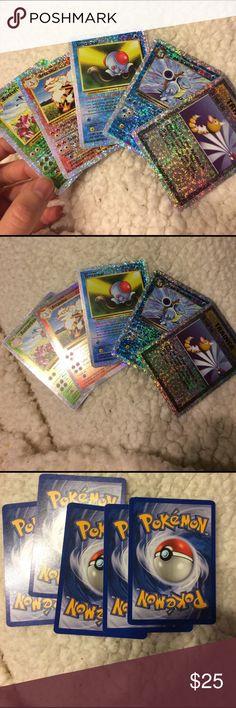 Pokémon Cards  Reverse Holo Super glittery reverse holo Pokémon cards - Butterfree, Dark Blastoise, Tentacool, Arcanine & Trainer cards Pokemon Other
