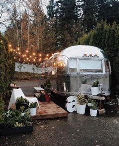 Tagged: Exterior, Airstream Building Type, Metal Siding Material, and Metal Roof Material. Photo 2 of 18 in A Couple Transform a Vintage Airstream Into a Scandinavian-Inspired Tiny Home