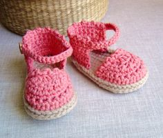 CROCHET PATTERN Baby Espadrille Sandals instant by matildasmeadow