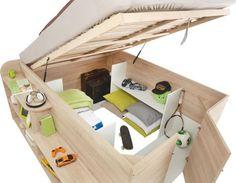 Praktisches Bett mit Stauraum - dieses Bett kann mehr!(Cool Furniture Dream Rooms)
