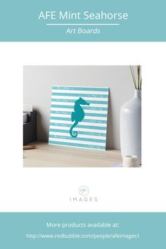 Illustration of a seahorse silhouette on stripped background. #nautical #seahorse © Amalia Ferreira-Espinoza www.afeimages.ca  For custom orders or design please contact me at amalia@afeimages.ca  sea,  seahorse, tropical, green, life, deep, dive, summer, aquarium, underwater, abstract, cute, color, colorful, blue, marine, background, nature, exotic, animal, nautical wildlife, ocean, silhouette, nautical seahorse