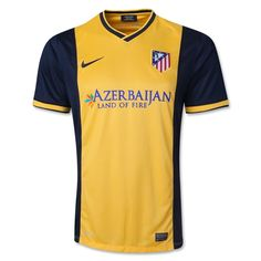 86c009e0bc5 Atletico Madrid Away Yellow Soccer Jersey Shirt. Johnson Alan · Camiseta  Alemania