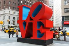 LOVE sculpture by Robert Indiana in New York City Empire State Building, Empire State Of Mind, New York Bucket List, Indiana Love, New York 2017, Love Statue, Tokyo, York Hotels, New York Christmas