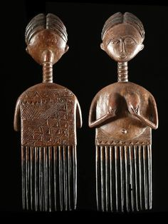 Africa   A hair comb from the Asante people of Ghana   ca. 1960