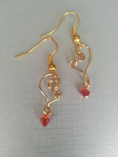 Check out this item in my Etsy shop https://www.etsy.com/listing/209862590/gold-heart-gold-earrings-with-red