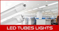Tube lights for panel lighting solutions.