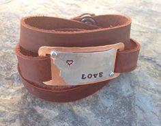 Montana leather wrap bracelet. $25
