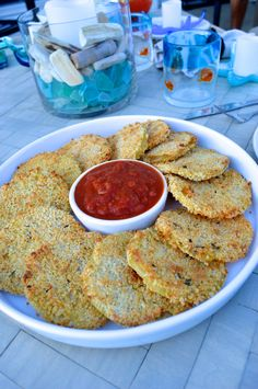 Oven fried green tomatoes - these are blissful and super easy to make!