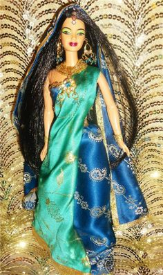 Jewel of India ~ Sapphire beauty barbie doll ooak dakotas.song world indian