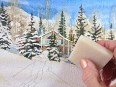 How DO you paint SNOW with watercolors - tutorial.
