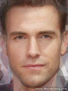Chris Pine, Ben Affleck, Arnold Schwarzenegger, Adam Levine (Morphed) - MorphThing.com #characterinspiration #male #man