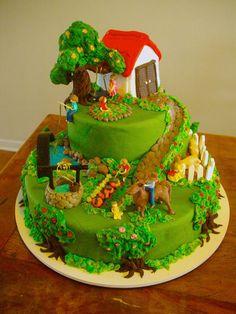 Beautiful farm cake