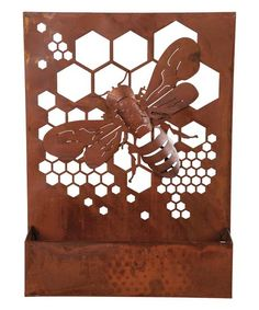 Foreside Bumble Bee Rusted Wall Art | zulily