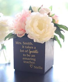 $14.99 marked down from $34.99!! 'It Takes Spark' Personalized Planter #teacher #gift #personalized #zulilyfinds