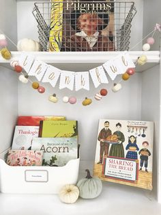 {cute Thanksgiving garland from Pearl & Jane} Ok, you asked and here they are! My favorite books for Thanksgiving & Fall… enjoy! The Relatives Came by Cynthia Rylant This book …