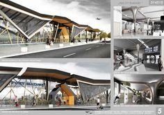 [A3N] : Airport Terminal Szymany Competition Winner ( 1st prize : Odlot Zurawi ) / Thomas Lella, Dariusz Wierzbowski, Agnieszka Laguna Pawelec, Michael Jędrzejczak . Catherine Wierzbowska