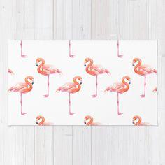 Buy Flamingos Watercolor Pattern Rug By Katerinamitkova Worldwide Shipping Available At Society6