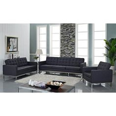 Update your living room with modern gray sofas & couches from LexMod. Browse our quality selection of contemporary sofas & couches to match your style, budget, furniture, or living space. Loft Living, Decor, Home, Living Room Sets, Furniture, Living Room Loft, Living Room Furniture, Grey Side Table, Modway Furniture