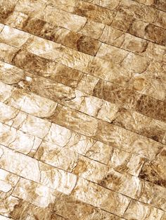 Maya Romanoff Mother-of-Pearl Wall Tiles - wallpaper - Samantha Schoech