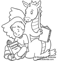 library coloring sheet
