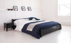 Low bed stylish wooden bed