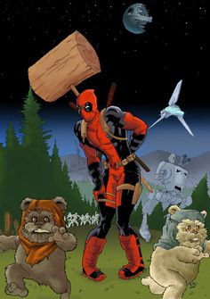 #Deadpool #Fan #Art. (Deadpool vs Star Wars) By: Borgisbor. (THE * 5 * STÅR * ÅWARD * OF: * AW YEAH, IT'S MAJOR ÅWESOMENESS!!!™) ÅÅÅ+
