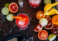 Ginger Blood Orange Margaritas via A House in the Hills