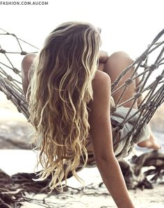 Dream hair! I was blond when i was younger and now my hair is really dark brown/black, always wanted 'dirty blond' hair!