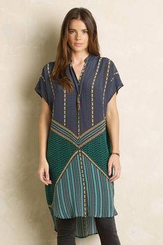 Emerald Grove Shirtdress - anthropologie.com