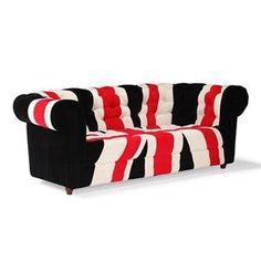 Union Jack Sofa in Red, White and Black   Nebraska Furniture Mart