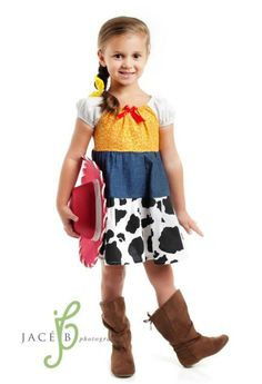Cow Girl Jessie Toy Story Peasant Disney  Dress Costume Christmas Gift
