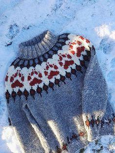 Villmarksgenseren (The Wilderness Sweater) pattern by Linka Karoline Neumann Sweater Knitting Patterns, Knit Patterns, Baby Sweaters, Pullover Sweaters, Winter Is Here, Fair Isle Knitting, Ravelry, Mittens, Knitted Hats