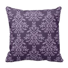 French Purple Damask pillow