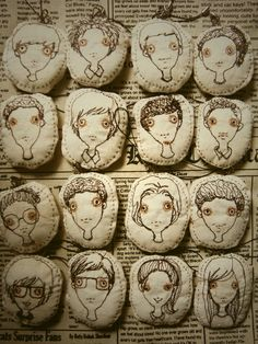♒ Enchanting Embroidery ♒ embroidered faces