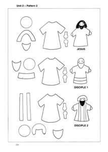pattern jesus disciple 1 disciple 2 patterns can be used as felt board ...