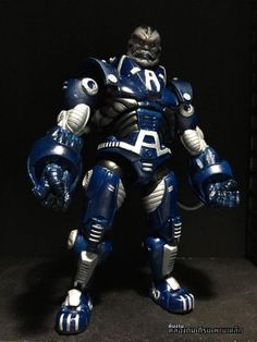 Hi everyone,  This is my first post for this site and my first custom work also. I use BAF Iron Monger as a base, arms and legs parts from classic spider-man series's Rhino. It's quite heavy scratch and sculpted job on this guy to make a proper proportion based on original pieces. Face is all-new sculpted on original Monger's, tubes are from USB fan's cable. Thanks for looking, hope you like it!