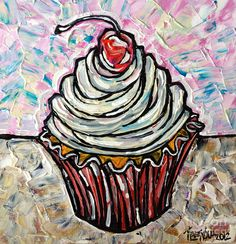 Shop for cupcake art from the world's greatest living artists. All cupcake artwork ships within 48 hours and includes a money-back guarantee. Choose your favorite cupcake designs and purchase them as wall art, home decor, phone cases, tote bags, and more! Cupcake Images, Cupcake Art, Yummy Cupcakes, Edible Art, Fine Art America, Original Paintings, Artsy, Fine Art Prints, Wall Art