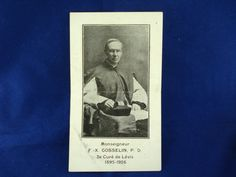 1920s French Bishop Catholic Souvenir Card