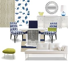 Gotta love the blues  #color #decorating #furniture #style