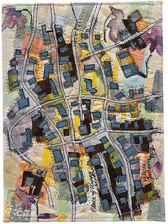 Art Quilt Maps by Valerie S. Goodwin