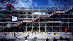 Spanish Practice, Lloyd's Of London, Pompidou Paris, Centre Pompidou, Famous Buildings, Renzo Piano, Building Exterior, Building Design, Amazing Architecture